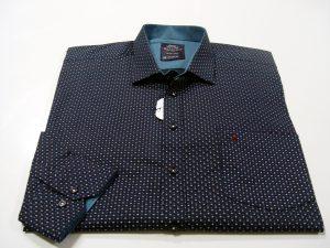 košulja tamno plava s uzorkom, extra xxl shop