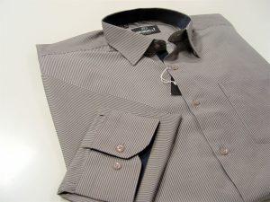 prugasta smeđe plava muška košulja veliki broj,extra xxl